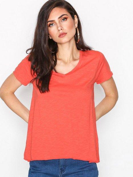 Billede af American Vintage Tee Shirt MC Col T-shirt Tomato