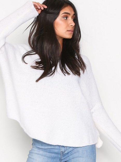 Billede af American Vintage Pull Manches 7/8 Strikket trøje Blanc