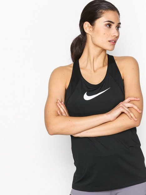 Nike NP Tank All Over Mesh Top Tight Fit Sort / Hvid