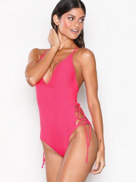 Billede af South Beach Lace Up Side Swimsuit Badedragter Kirsebær