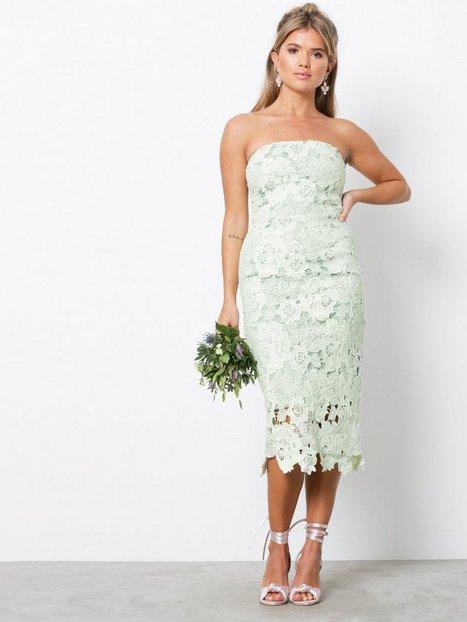 Billede af NLY Eve Bandeau Crochet Dress Kropsnære kjoler Mint Grøn
