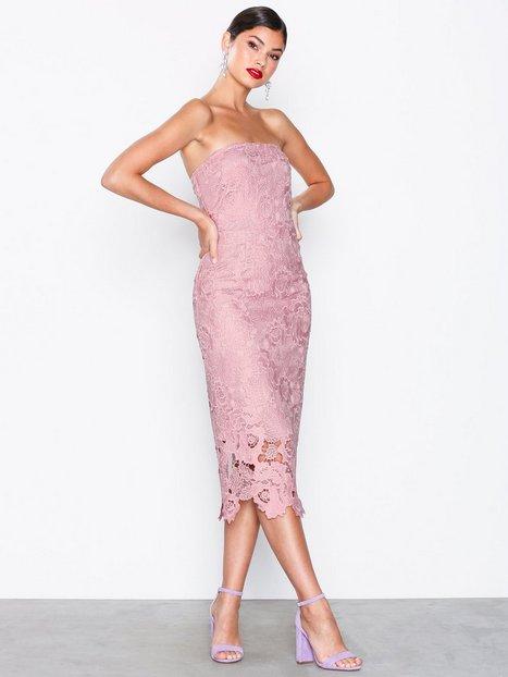 Billede af NLY Eve Bandeau Crochet Dress Kropsnære kjoler Rose