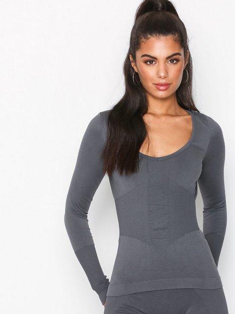 Billede af Fashionablefit FashionableFit Seamless Corset Top Top Langærmet Mørk Grå