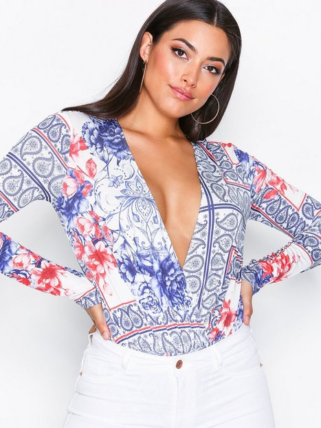 NLY One Plunge Print Body Toppe Print