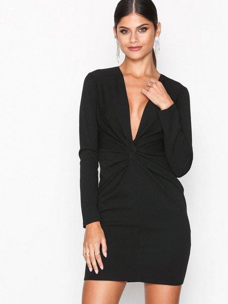 NLY One Twist Waist Dress Kotelomekot Musta thumbnail