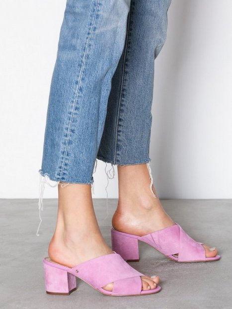 Billede af Sam Edelman Stanley Kid Suede Leather Low Heel Pink