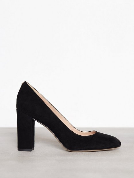 Billede af Sam Edelman Stillion Kid Suede High Heel Black