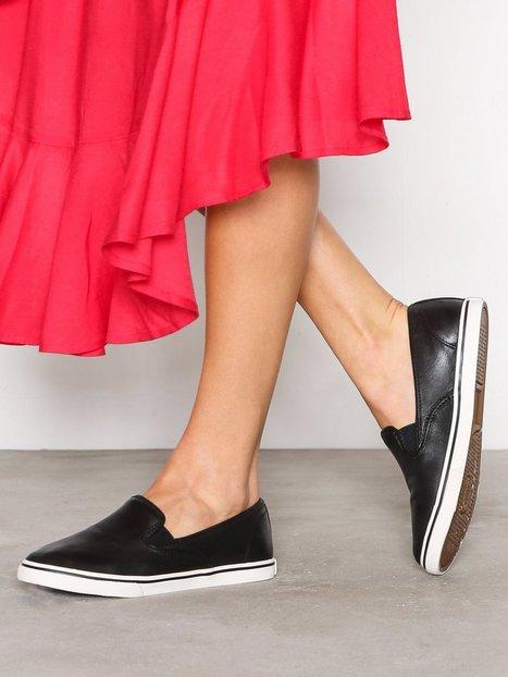 Billede af Lauren Ralph Lauren Janis Sneakers Leather Slip-On Sort