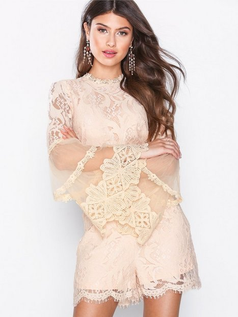 Victoriana L/S Lace Playsuit