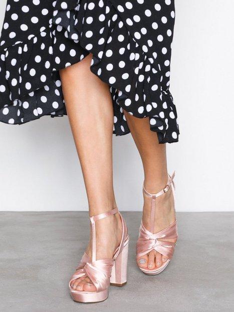 Billede af Bianco Satin Strap Sandal High Heel Powder