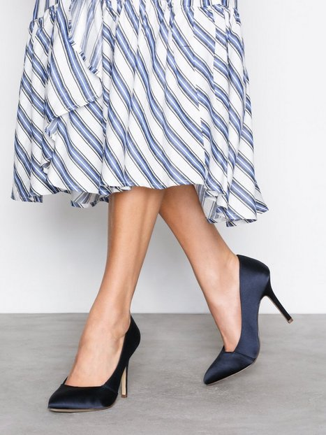 Billede af Bianco Loafer Pump 100 High Heel Navy Blue