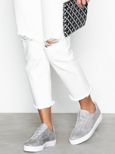 Bianco Hidden Laced Up Sneaker Low Top Grå