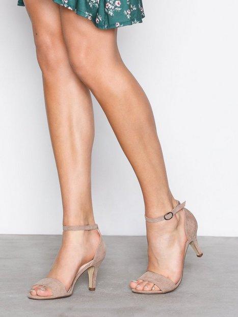 Billede af Bianco Low Basic Sandal High Heel Nougat