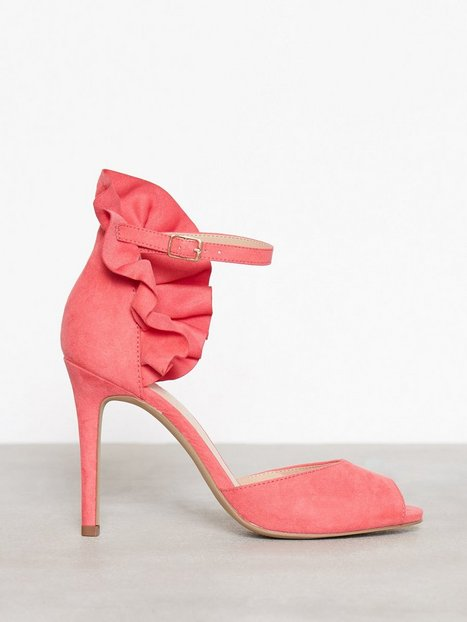 Billede af Bianco Fan Counter Sandal High Heel Coral Red