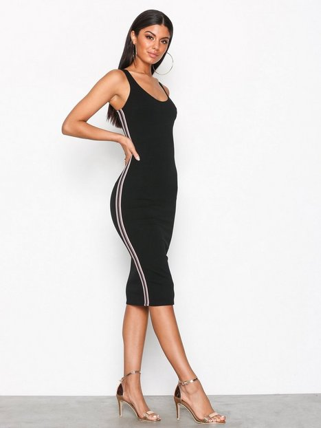 Side Stripe Dress - Nly One - Schwarz - Partykleider - Kleidung ...
