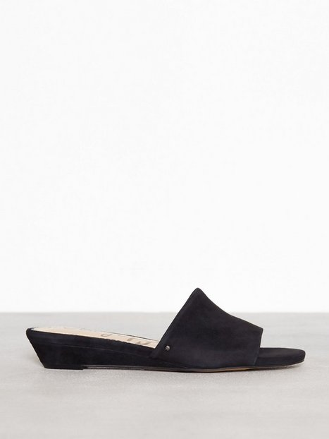 Billede af Sam Edelman Liliana Kid Suede Leather Sandaler Black