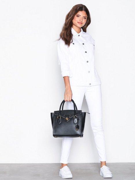 Lauren Ralph Lauren Medium Satchel Håndtaske Sort
