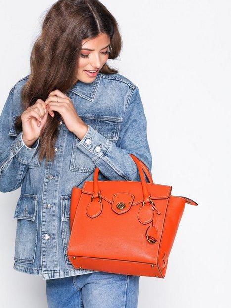 Lauren Ralph Lauren Medium Satchel Håndtaske Orange
