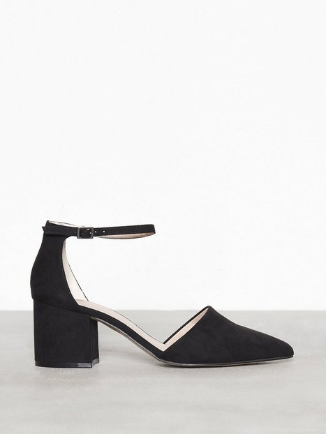 Billede af Bianco Divided Pump Low Heel Black
