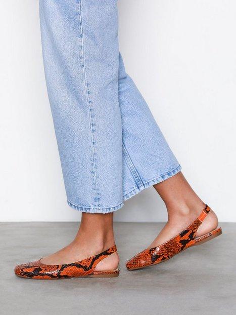 Billede af Bianco Back Strap Flat Shoe Sandaler Orange