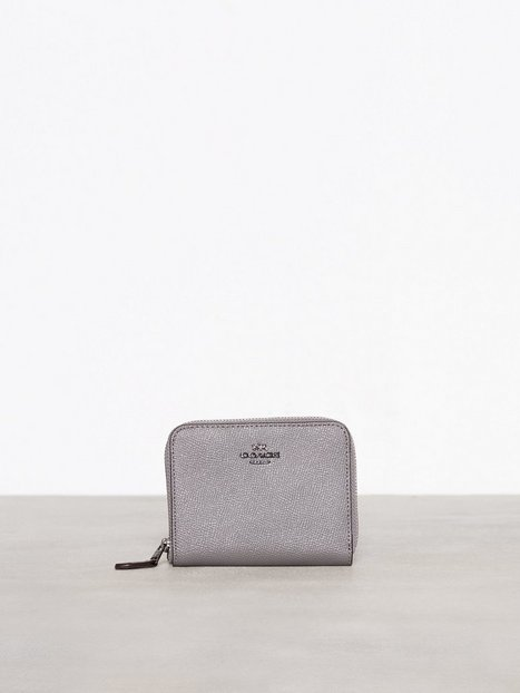 Billede af Coach Crossgrain Leather Small Zip Around Wallet Punge Grå
