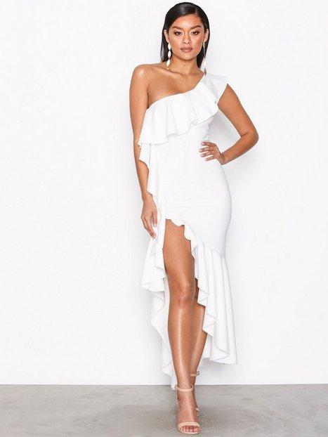Billede af NLY One Asymmetric Frill Dress Kropsnære kjoler Hvid