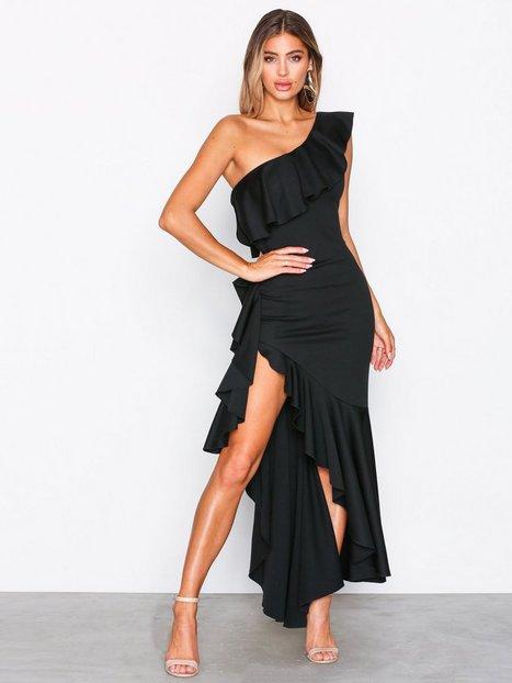 Billede af NLY One Asymmetric Frill Dress Kropsnære kjoler Sort