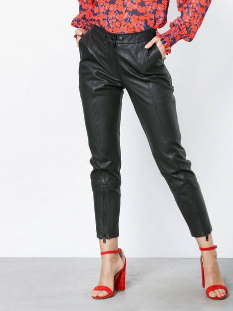 Billede af NORR Naja cropped leather pant Skind Black