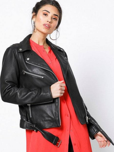 NORR Sabine leather jacket Læderjakker Black