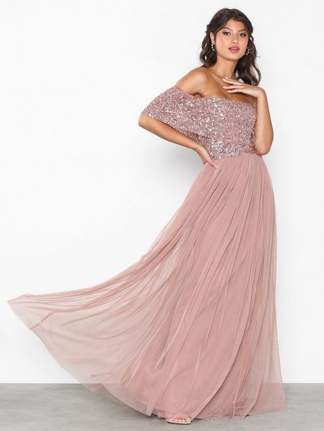 Billede af Maya Bardot Delicate Sequin Maxi Dress Maxikjoler Mauve