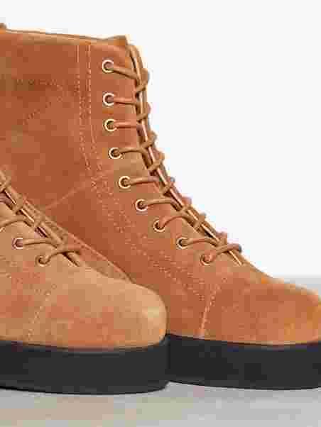Kvinnelige boots | 1024 Ref. | Brown semsket skinn | sko kvinner