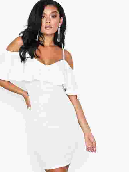 74b214105b Off Shoulder Strap Dress - Nly One - White - Party Dresses ...