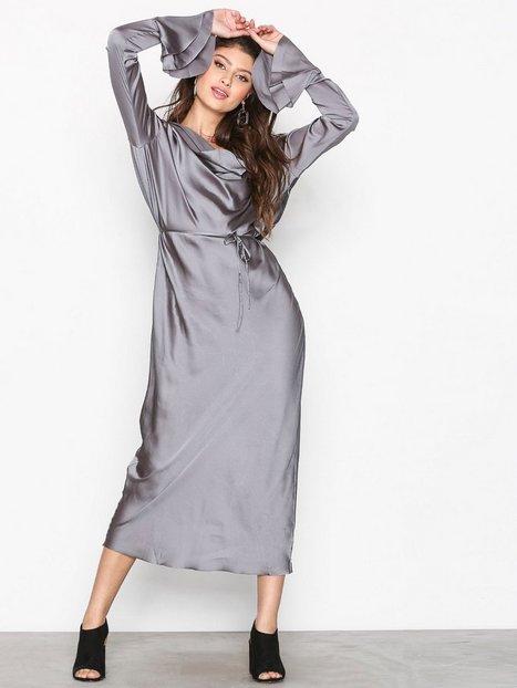 One Teaspoon Teahouse Faux Silk Cisco Dress Maksimekot Gunmetal thumbnail