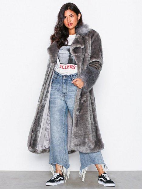 Billede af One Teaspoon Verona Faux Fur Trench Coat Faux Fur Grey