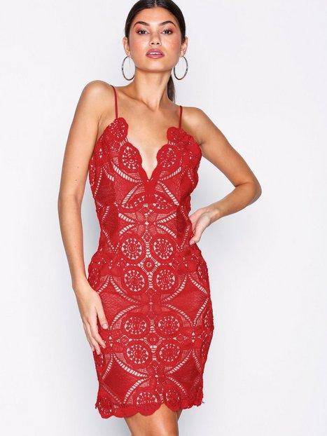 Billede af Love Triangle Atomic Sleeveless Dress Kropsnære kjoler Red