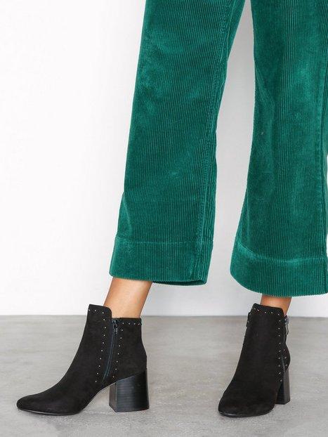 Billede af Bianco Ankle Boot With Details Heel Sort