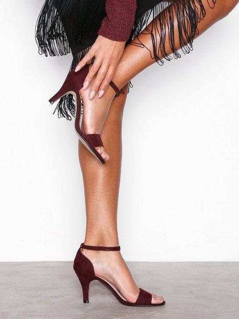 Billede af Bianco Low Basic Sandal High Heel Burgundy