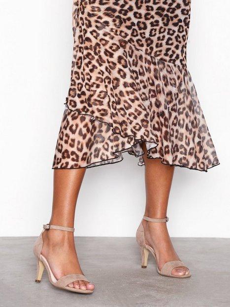 Billede af Bianco Low Basic Sandal Heels Nougat