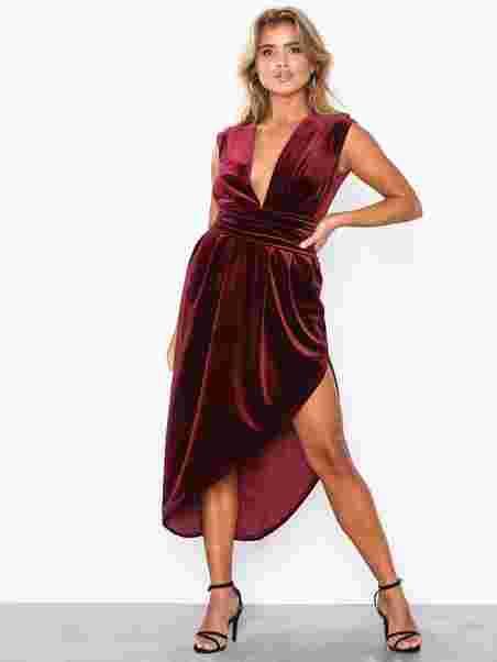 8c70e48eb4e Haven Velvet Midi Dress - Honor Gold - Berry - Party Dresses ...
