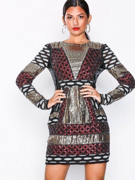 Billede af NLY Eve Beaded Pattern Dress Pailletkjoler Multicolor