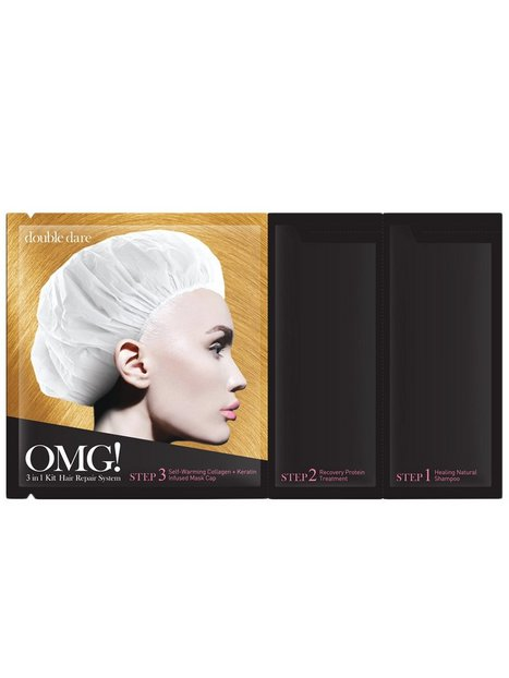 Billede af OMG! 3 in1 Kit Hair Repair System Hårkur og Hårolie Transparent