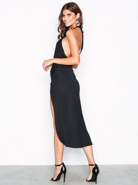 Drapy Daring Slit Dress