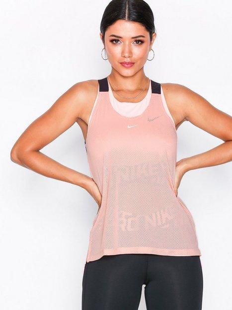 Nike W Nk Tank Elstka Mesh Loose-fit Top Rosa/Lyserød