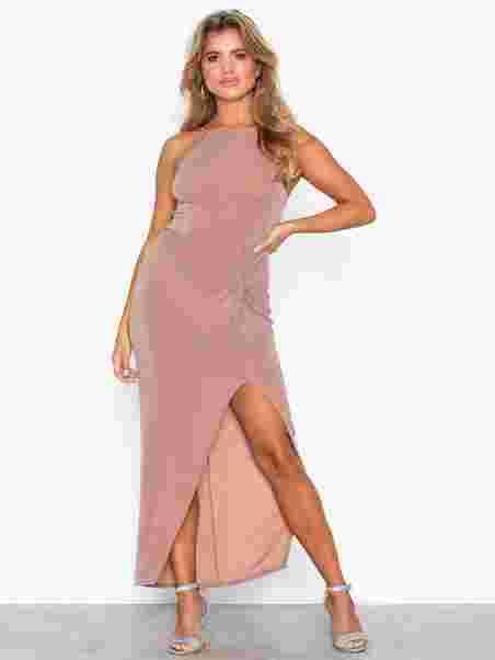 Lurex Twist Dress - Nly One - Vaaleanpunainen - Juhlamekot ... 02515883e0
