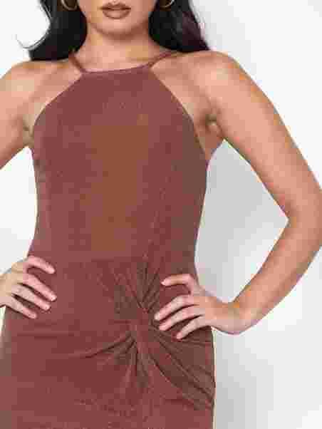 Lurex Twist Dress - Nly One - Tumma Vaaleanpunainen - Juhlamekot ... df4b5cd994