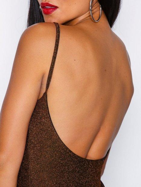 Glitter Low Back Dress