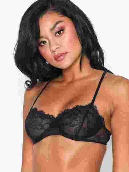 3f4dc6d9244 Je T'aime Lace Bra - Nly Lingerie - Black - Bras & Tops - Underwear ...