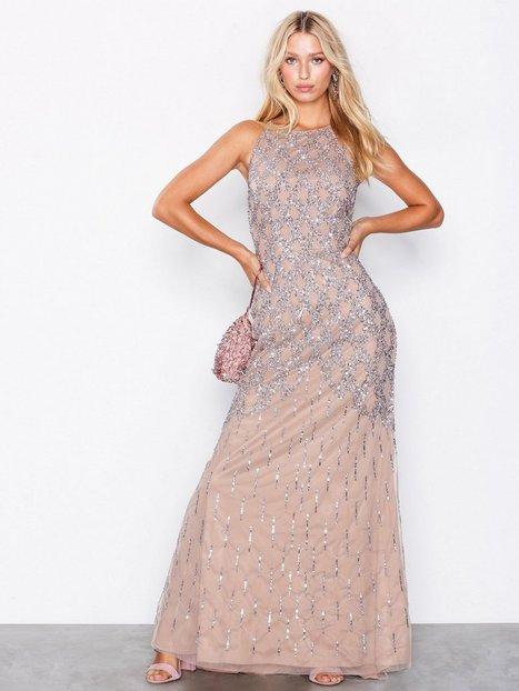 Billede af Maya Cage Embellishment Maxi Dress With Train Maxikjoler Taupe