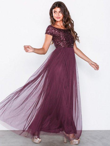 Billede af Maya Bardot Embellished Maxi Dress Maxikjoler Berry