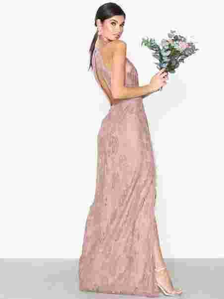 ef265bf3e338 Scallop Lace Slit Gown - Nly Eve - Rose - Festkjoler - Tøj - Kvinde ...